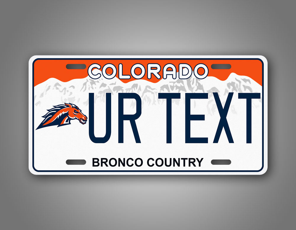 Any Text Denver Broncos Novelty License Plate