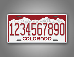 Personalized Text Red Colorado Novelty License Plate