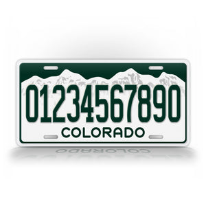 Current Colorado Personalized License Plate