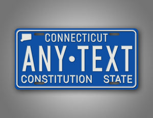 Vintage Any Text Connecticut State Auto Tag