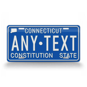 1980s Connecticut Custom Text License Plate