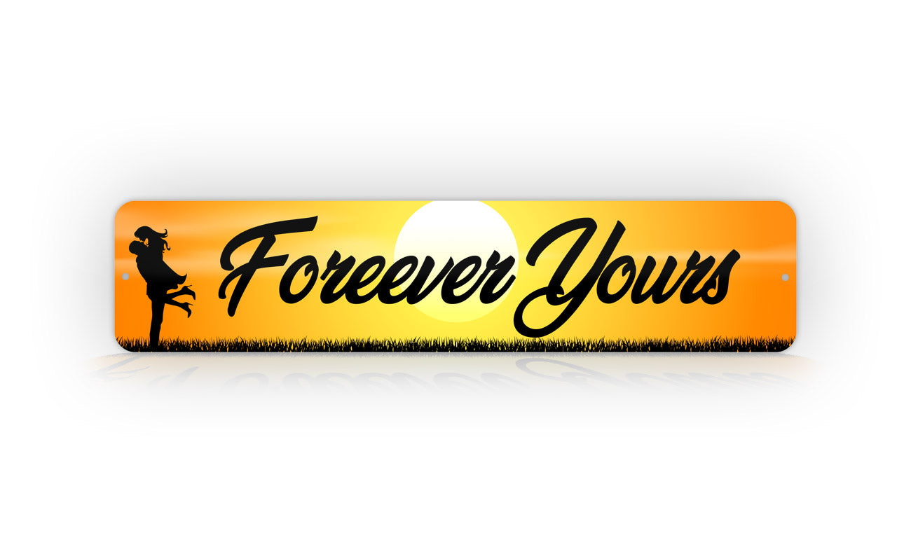 Cute Personalized Couples Names With Sunset Background Street Sign Wall Decoration