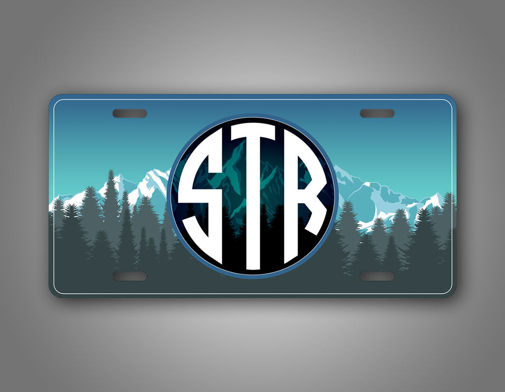 Personalized Colorful Mountain Custom Text Auto Tag
