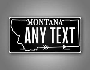 Personalized Black Montana State Custom License Plate