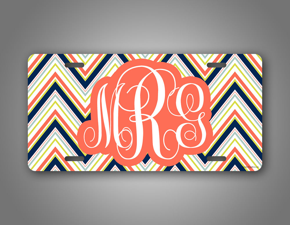 Personalized Monogram License Plate