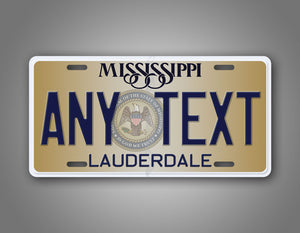 Any Text Mississippi State Novelty License Plate