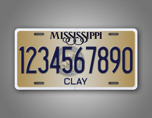 Custom Text Personalized Mississippi State Auto Tag
