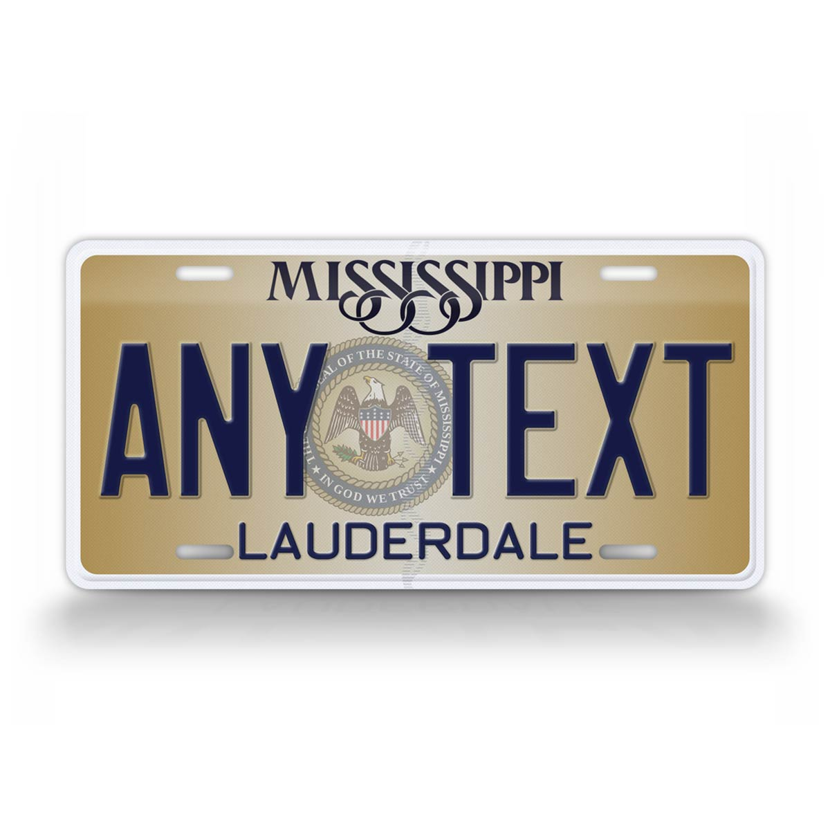 Custom Text Novelty Mississippi State License Plate