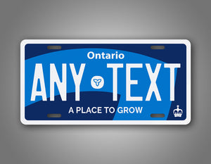 Personalized Ontario Canada Any Text License Plate