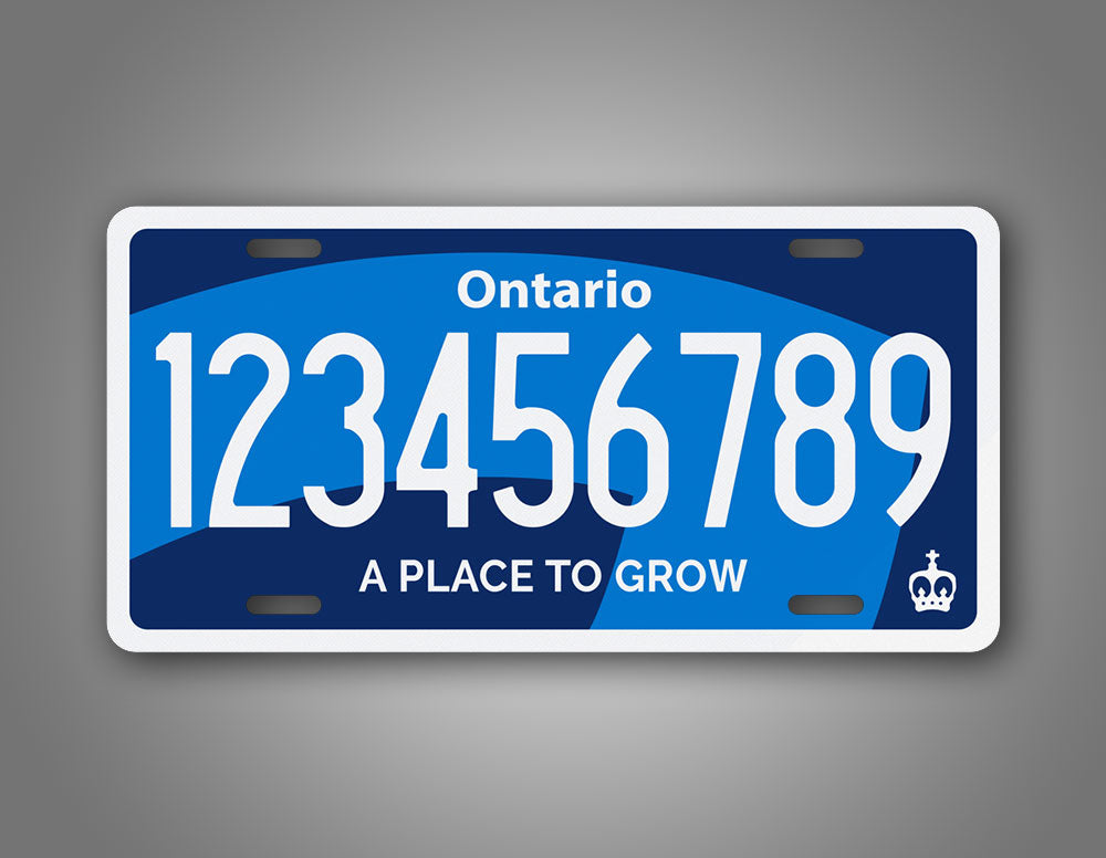 Any Text Custom Ontario Canada Novelty License Plate