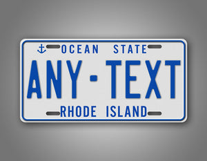 Any Text Custom Rhode Island Ocean State Auto Tag