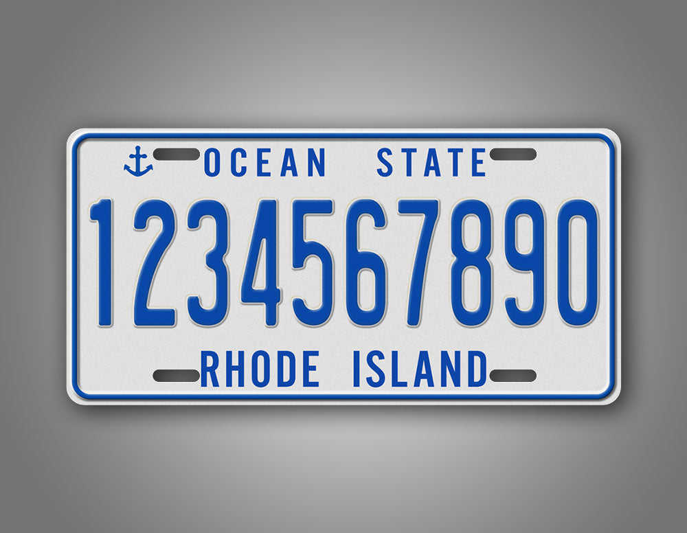 Custom Any Text Rhode Island Vintage License Plate