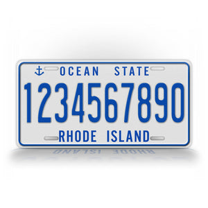 Personalized Text Rhode Island Ocean State Vintage License Plate