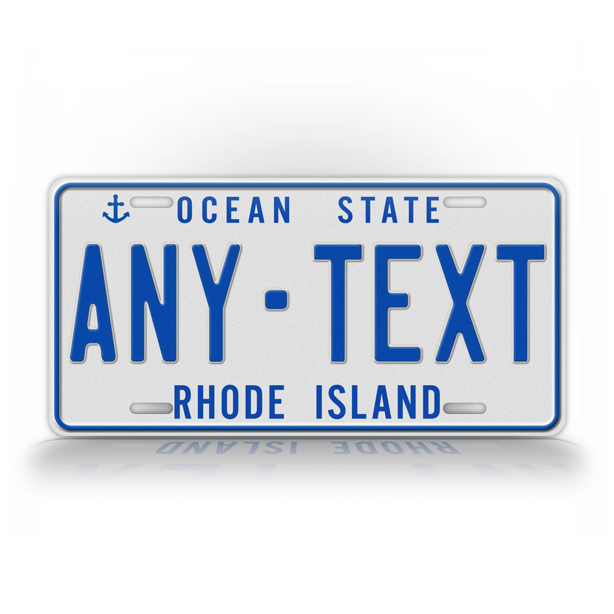 Custom Text Rhode Island 1987 To 1996 Novelty License Plate