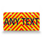 Bright Striped Any Text Ems Emergency Firefighter Custom License Plate