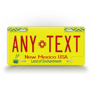 Personalized Novelty New Mexico License Plate