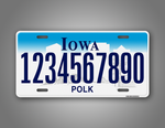 Custom Any Text Iowa Car Auto Tag
