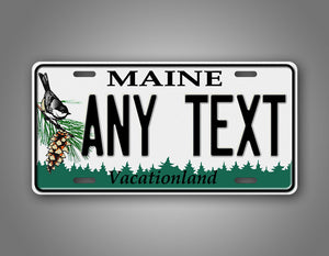 Custom Any Text State Of Maine License Plate