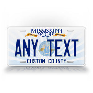 Personalized Any Text Mississippi State License Plate