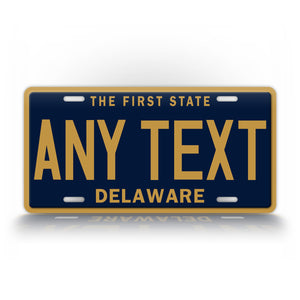 Personalized Any Text Delaware State License Plate