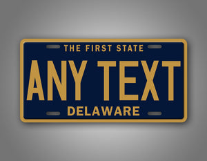 Custom Text Delaware State License Plate