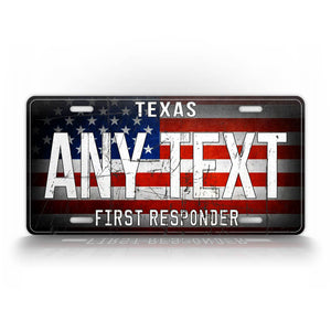 Custom Text First Responder License Plate