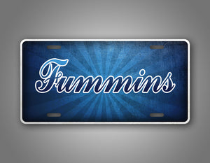 Ford And Cummins Cross Over License Plate Fummins Auto Tag