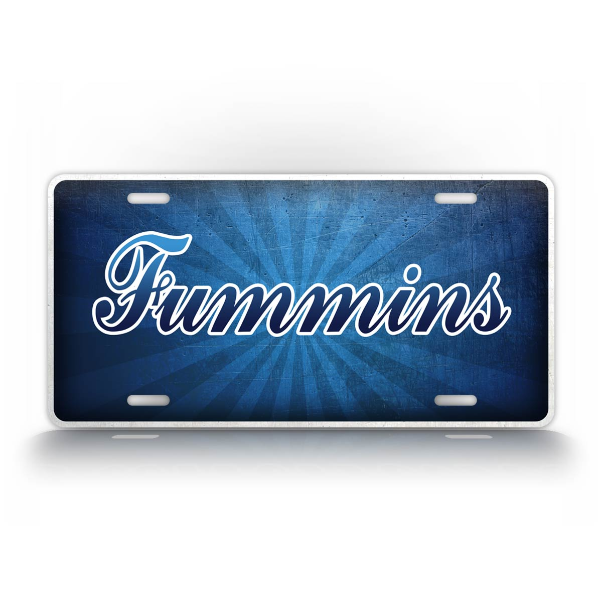 Ford And Cummins Cross Over License Plate Fummins