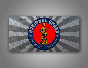 National Guard Silver Auto Tag