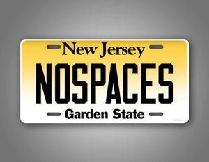 Any Text New Jersey NY License Plate