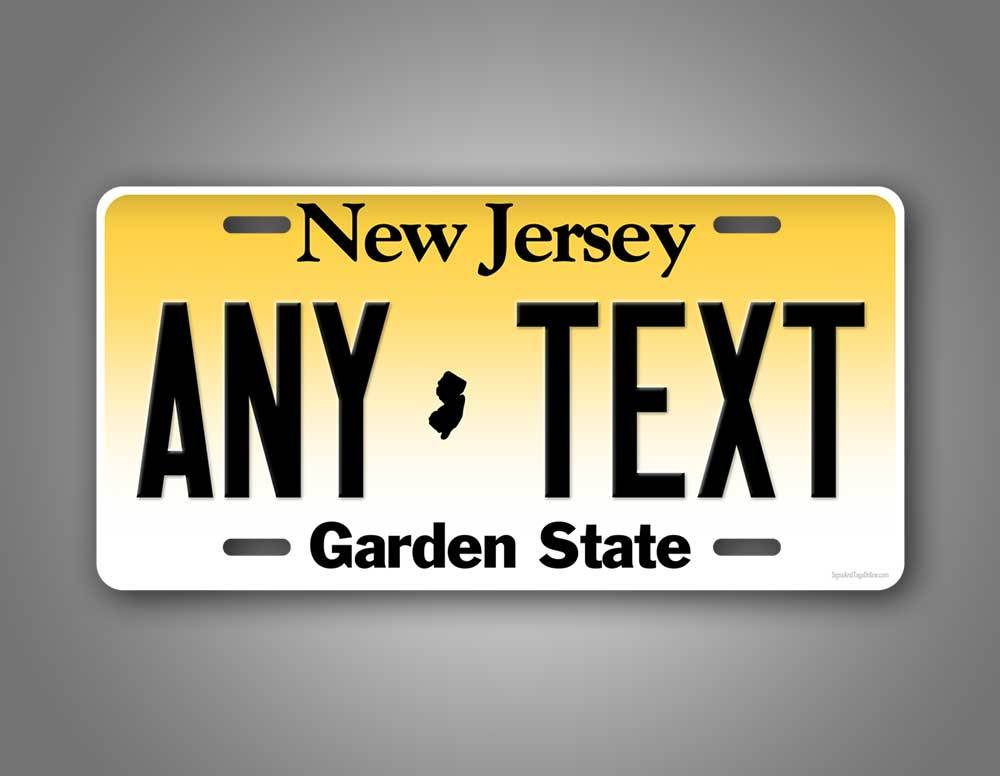 Custom Text New Jersey Auto Tag