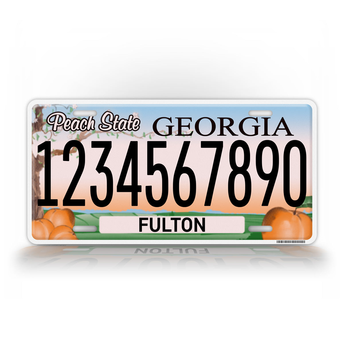 Personalized Georgia Peach State Auto Tag