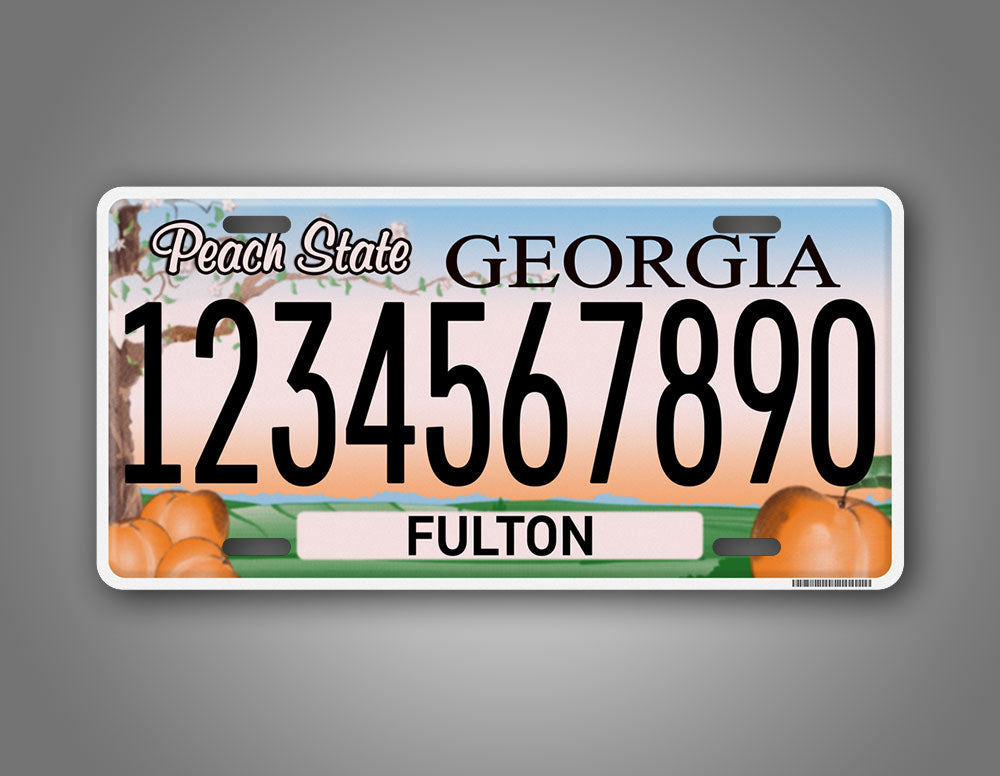 Georgia State Personalized Any Text Auto Tag
