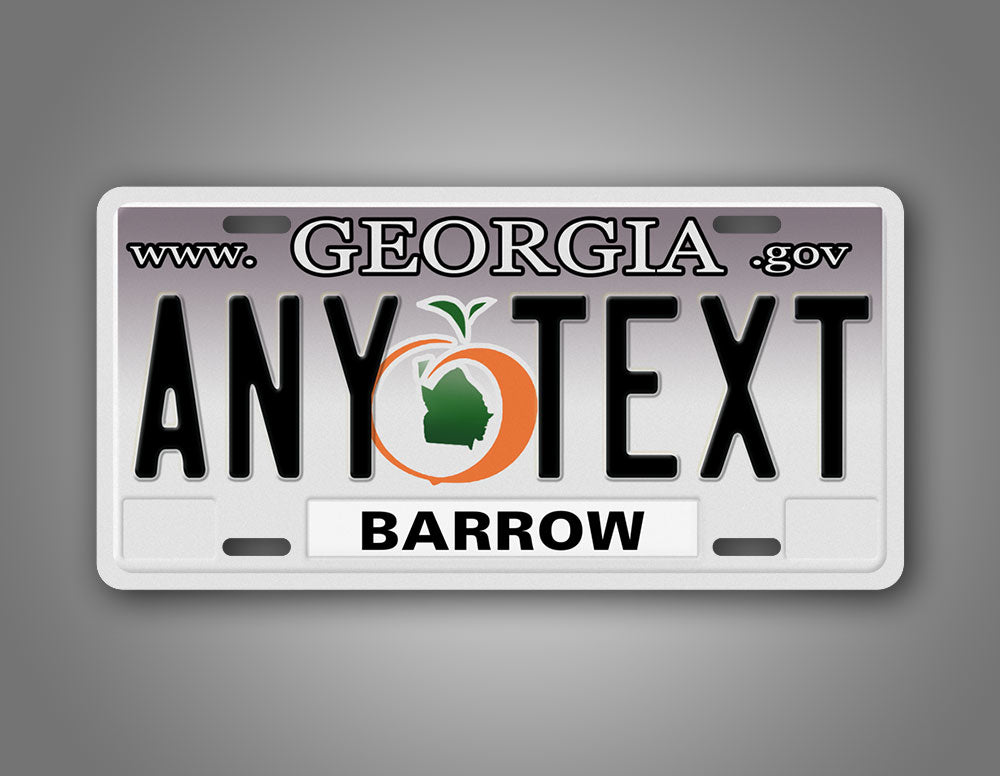 Personalized Any Text Georgia Auto Tag