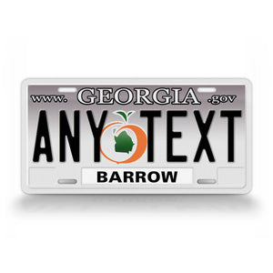 Personalized Georgia State Novelty License Plate