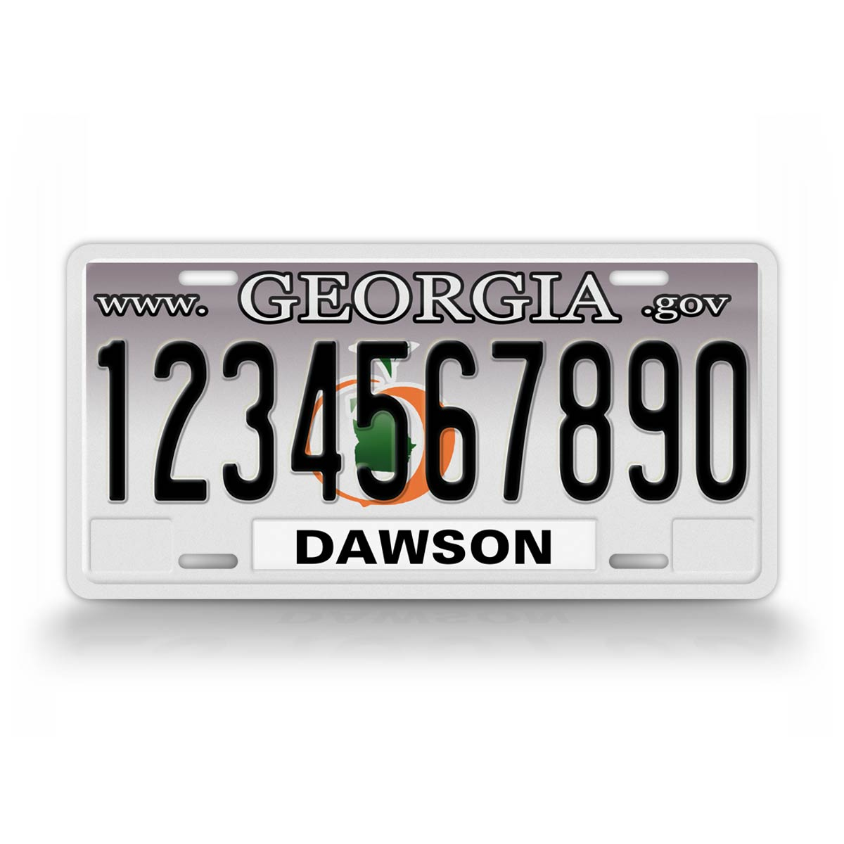 Custom Text Georgia State License Plate
