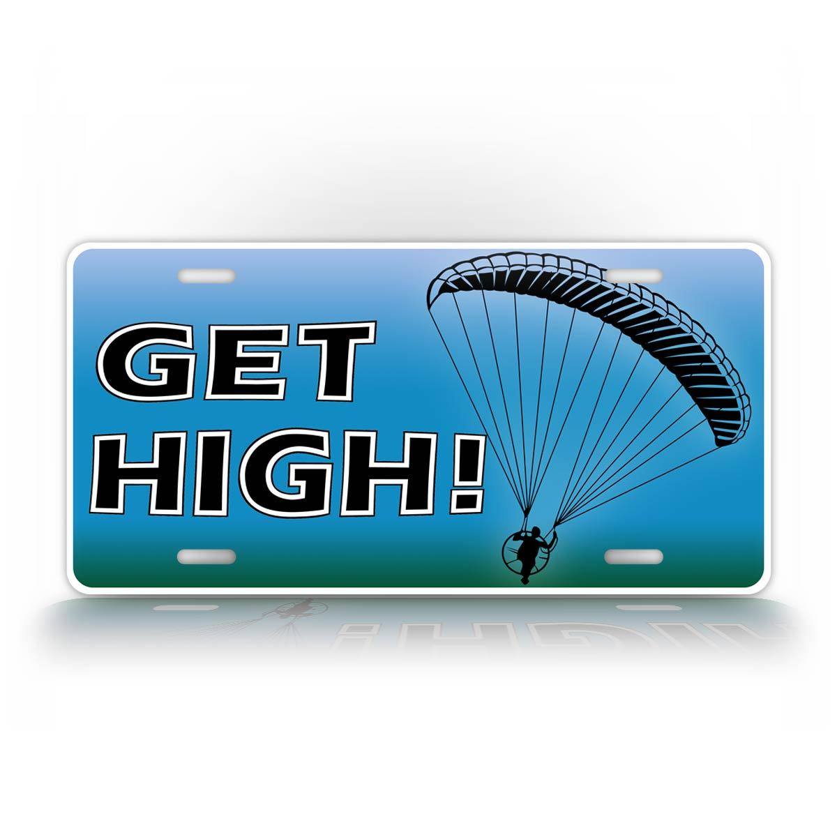 Get High Paragliding Funny Auto Tag