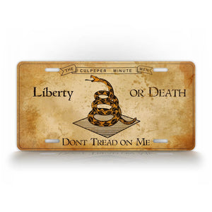 Give Me Liberty Or Give Me Death License Plate