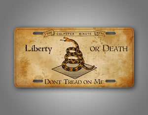 Give Me Liberty Or Give Me Death Vintage Auto Tag
