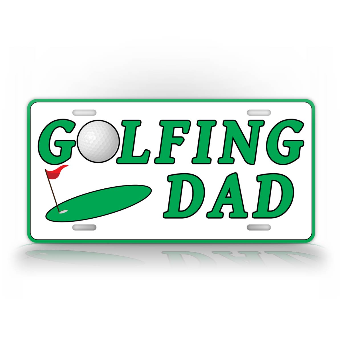 Golfing Dad License Plate Golf Father Auto Tag