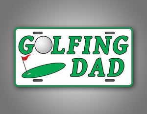 Golfing Dad License Plate