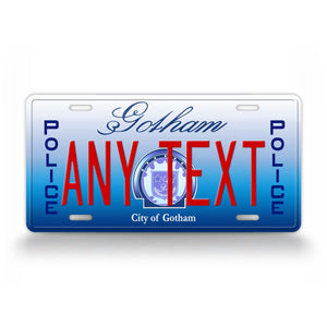 Personalized Gotham City Police License Plate