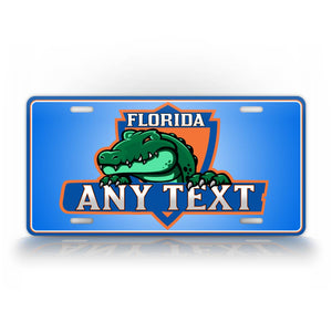 Green And Blue Floida Gators Custom License Plate