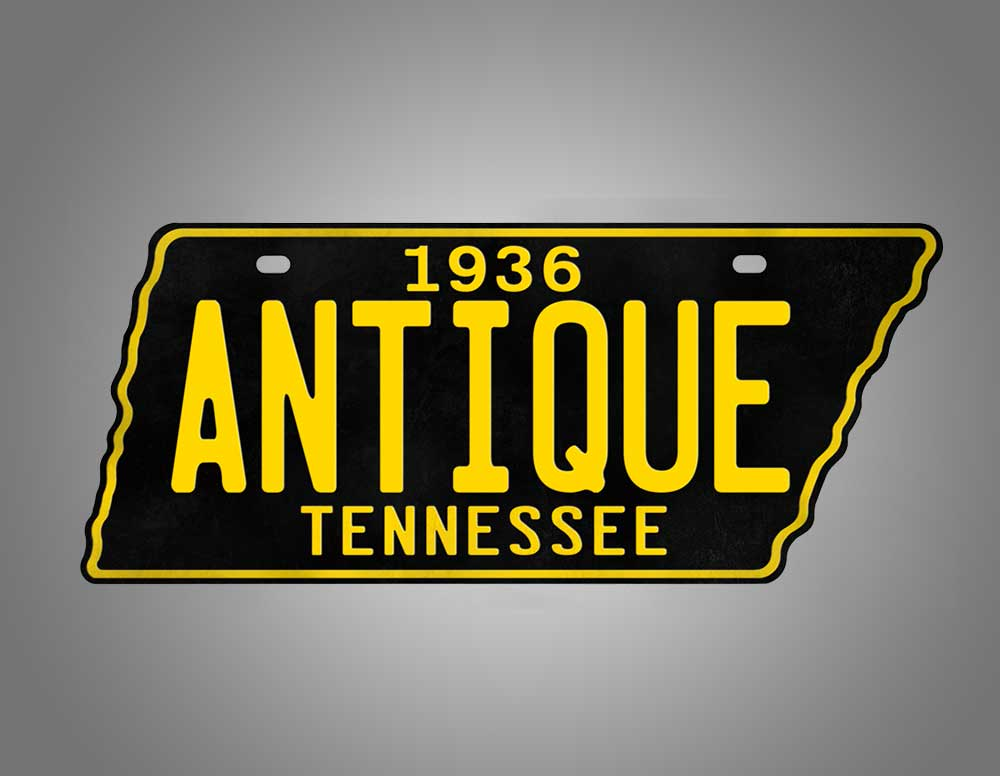 Custom Replica 1954-1958 Tennessee State Shaped License Plate