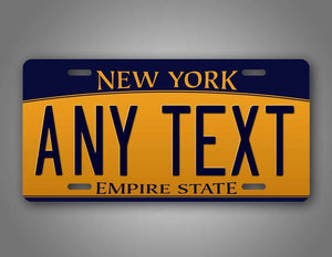 Custom Any Text New York Empire State License Plate