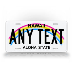 Any Text Hawaii Custom State license Plate