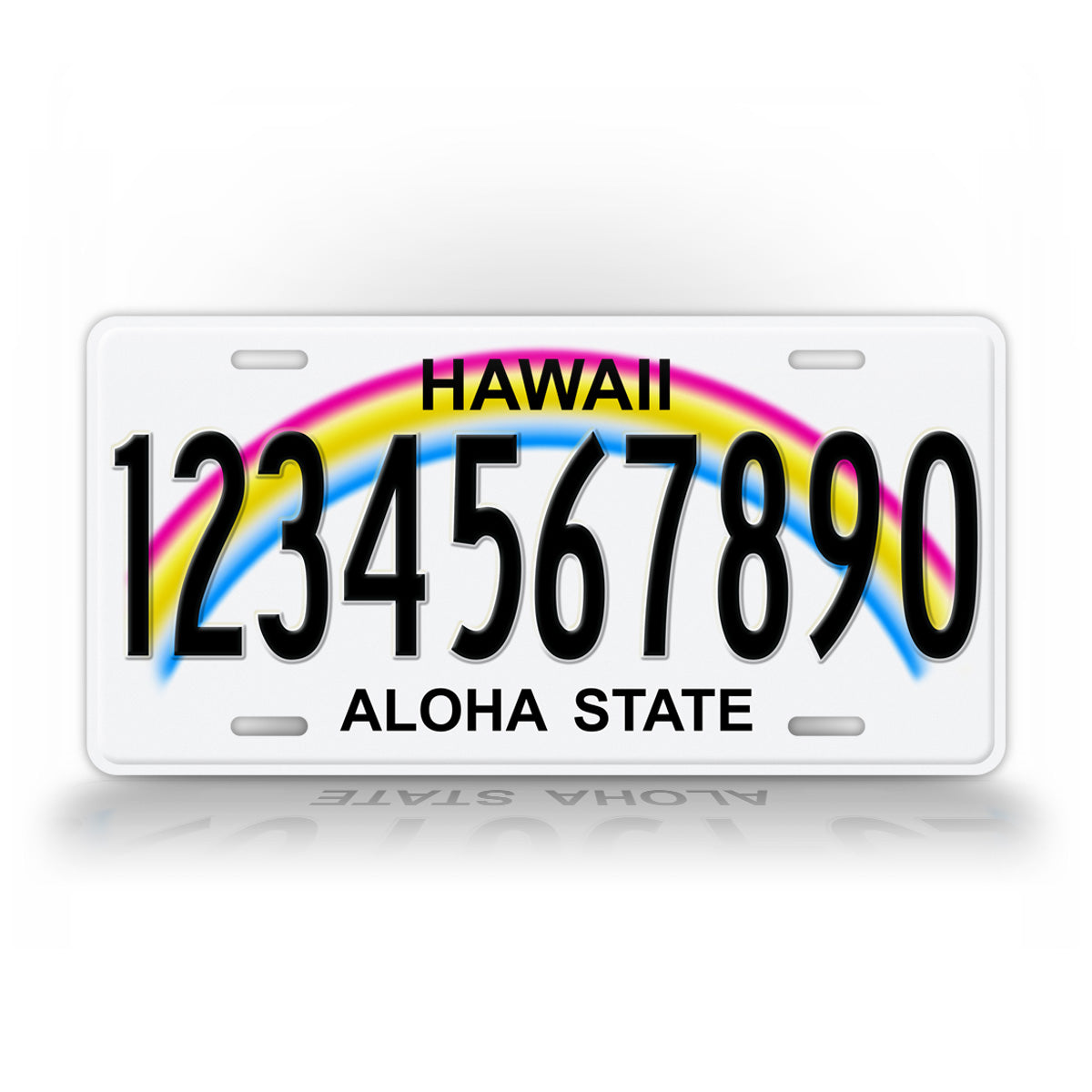 Any Text Hawaii Personalized State Auto Tag