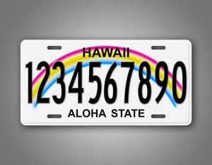 Aloha State Hawaii Custom License Plate