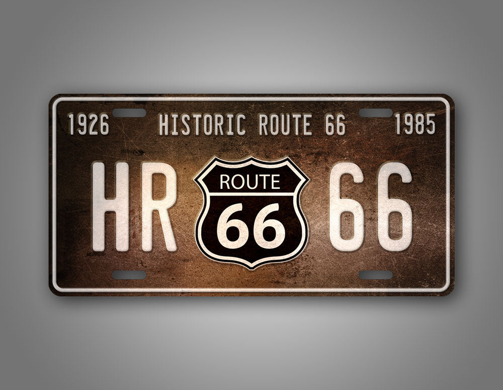 Antique Rusty Route 66 License Plate