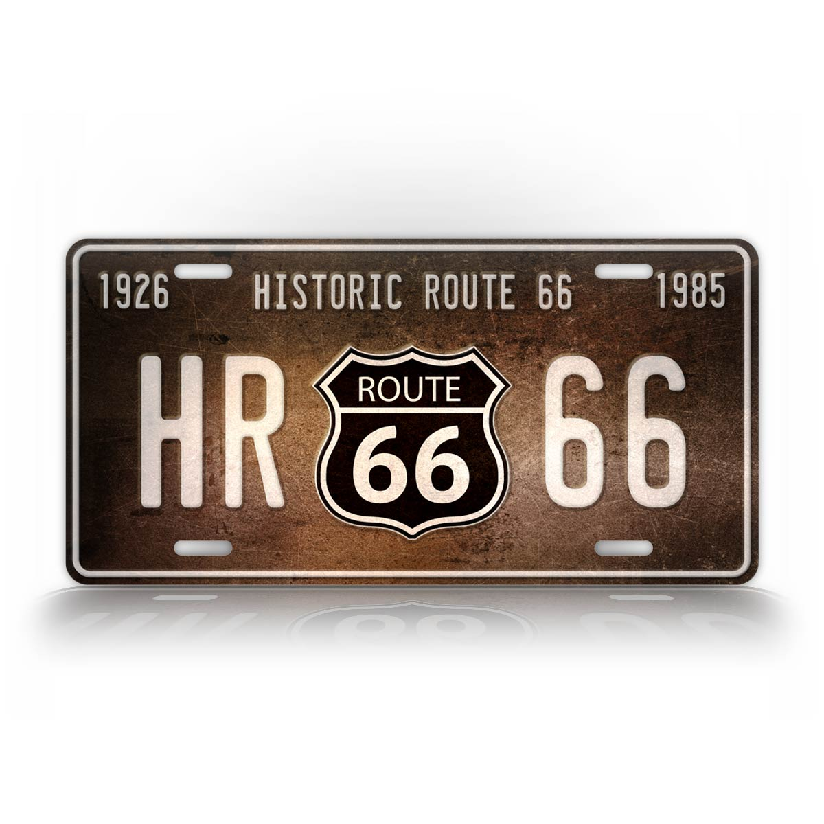 Rustic Historic Route 66 License Plate